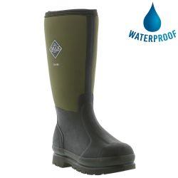 Muck Boots Mens Womens Chore Hi Work Wellies Rain Boots - Moss