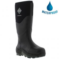 Muck Boots Mens Womens Muck Master Neoprene Wellies Rain Boots - Black