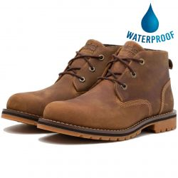 Timberland Mens Larchmont Waterproof Leather Chukka Boots - Rust - A2NF3