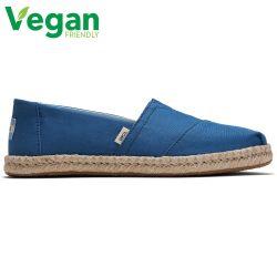 Toms Womens Classic Espadrille Vegan Shoes - Plant Dyed Indigo