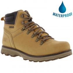 Caterpillar Mens Cat Sire Waterproof Wide Fit Ankle Boots - Honey Reset