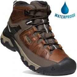 Keen Mens Targhee III Mid WP Waterproof Walking Boots - Chestnut Mulch