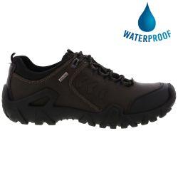 Imac Mens Freeland Path Waterproof Leather Walking Shoes - Brown