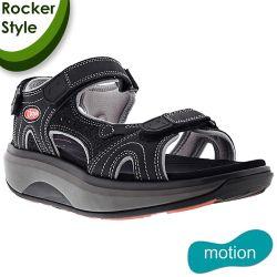 Joya Womens Cairo II Leather Sandals - Black