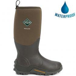Muck Boots Mens Wellies Wetland Tall Neoprene Wellington Boots - Bark