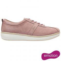 Joya Womens Emma Emotion Leather Lace Up Shoes - Pink