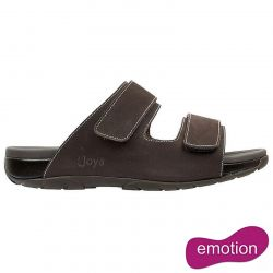 Joya Mens Max II Emotion Leather Slide Sandals - Brown