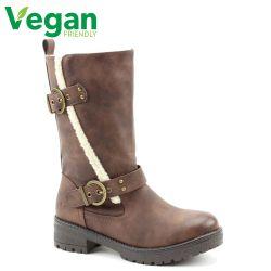 Heavenly Feet Womens Bonnie Vegan Boots - Chocolate
