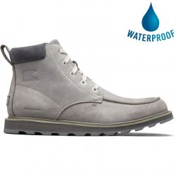 Sorel Mens Madson Moc Toe Waterproof Boots - Quarry