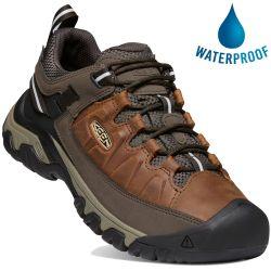 Keen Mens Targhee III Waterproof Walking Shoes - Chestnut Mulch