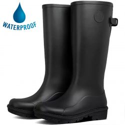 Fitflop Womens Wonderwelly Tall Wellington Boots - All Black