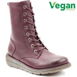 Heavenly Feet Womens Martina 2 Vegan Boots - New Berry