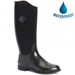 Muck Boots Womens Derby Tall Riding Boots - Black