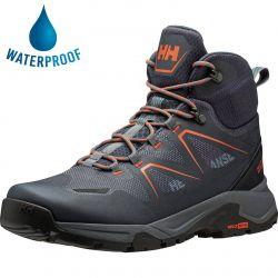 Helly Hansen Mens Cascade Mid HT Waterproof Walking Boots - Storm Black
