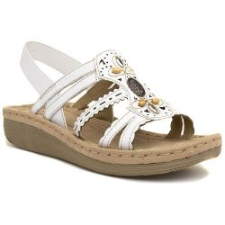 Earth Spirit Womens Portland Leather Sandal - White