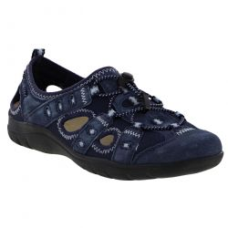 Earth Spirit Womens Winona Leather Trainer Sandals - Navy Blue