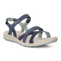 Ecco Shoes Womens Ecco Cruise II Leather Sandals - Marine Ice Flower