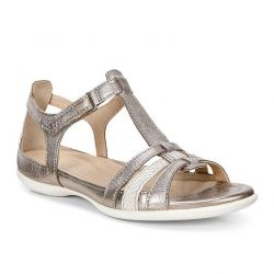 Ecco Womens Flash Sandals - Warm Grey Metallic