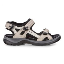Ecco Shoes Womens Offroad Leather Walking Sandals - Atmosphere Ice Black