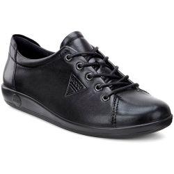 Ecco Shoes Womens Soft 2.0 Leather Shoes - Black Black