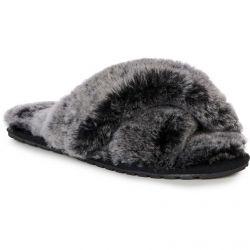 EMU Australia Womens Mayberry Frost Slip On Sheepskin Slippers - Black