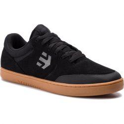 Etnies Mens Marana Skate Shoes - Black Dark Grey Gum