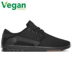 Etnies Mens Scout Vegan Skate Shoes - Black Black Gum