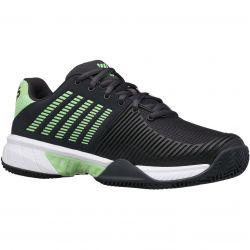 K-Swiss Mens Express Light 2 HB Tennis Shoes - Graphite Soft Neon Green