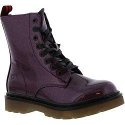 Heavenly Feet Womens Justina 8 Eye Boot - Purple