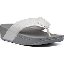 Fitflop Womens Demelza Logo Shimmer Sandals - Silver