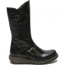 Fly London Womens Mes 2 Wedge Zip Up Boots - Black