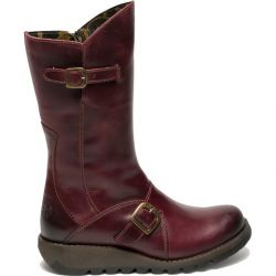 Fly London Womens Mes 2 Wedge Zip Up Boots - Purple