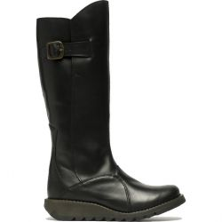 Fly London Womens Mol 2 Knee High Wedge Boots - Black
