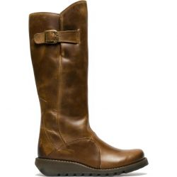 Fly London Womens Mol 2 Knee High Wedge Boots - Camel