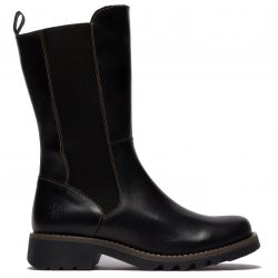 Fly London Womens Relm Leather Boots - Black