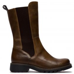 Fly London Womens Relm Leather Boots - Camel