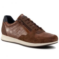 Geox Mens Avery B Breathable Trainers - Brown