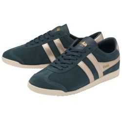 Gola Womens Bullet Pearl Classics Suede Trainers Shoes - Dark Teal