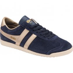 Gola Womens Bullet Pearl Trainers - Navy Gold