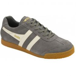 Gola Mens Harrier Classics Suede Trainers Shoes - Ash Ecru