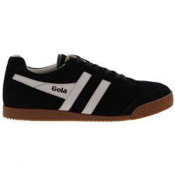 Gola Mens Harrier Classics Suede Trainers Shoes - Black Grey