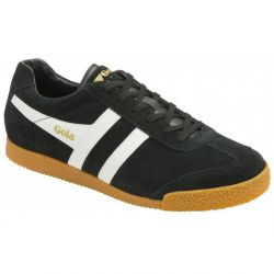 Gola Mens Harrier Classics Suede Trainers Shoes - Black White