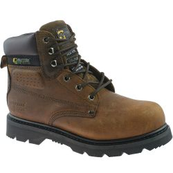 Grafters Mens Gladiator Steel Toe Cap Safety Work Boots - Brown