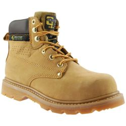 Grafters Mens Gladiator Steel Toe Cap Safety Work Boots - Honey