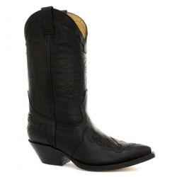 Grinders Mens Arizona Hi Pointed Toe Western Cowboy Boots - Black