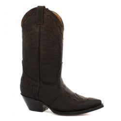 Grinders Mens Arizona Hi Pointed Toe Western Cowboy Boots - Brown