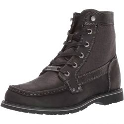 Harley Davidson Mens Dowling Leather Ankle Boots - Black