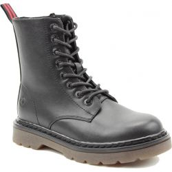 Heavenly Feet Womens Justina 8 Eye Boot - Black