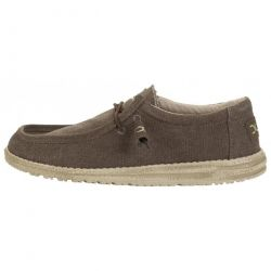 Hey Dude Mens Wally Classic Slip On Loafers Shoes - Wenge