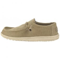 Hey Dude Mens Wally Classic Slip On Loafers Shoes - Chestnut